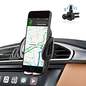 Air Vent Phone Holder Car Mount with Quick Easy Release Button and 360 Degree Rotation Cradle for IPhone car phone mount, Samsung Galaxy and Most 1.9-3.7 Inches Smartphones cell phone car mount …