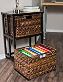 BirdRock Home Havana 2 Tiered File Cubby with