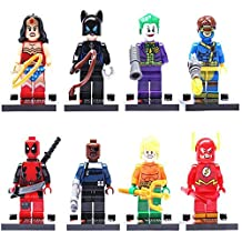 8pcs/Set Super Heroes Flash Deadpool Avengers Building Bricks Blocks Figures Minifigures Learning Toys Compatible With Lego (WITHOUT original boxes)
