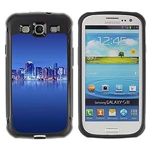 All Phone Most Case / Soft Gel TPU Case Protective Cover / Suave Silicona Blando Estuche Carcasa Funda Caso de protecció Samsung Galaxy S3 I9300 The Blue City