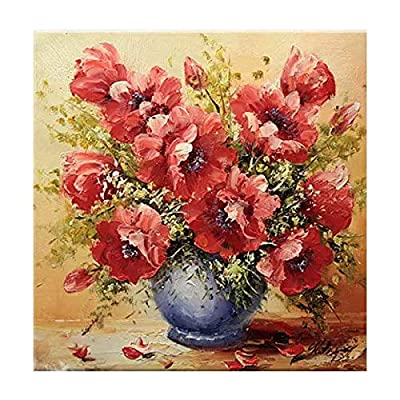 Red Poppy Flowers DIY 5D Diamond Painting by Number Kit Crystal Rhinestone Embroidery Cross Stitch Home Wall Decor Arts Craft 20cm x 20cm: Arts, Crafts & Sewing