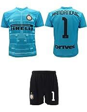 L.C. Sport srl Completo Handanovic Inter 2020 Azzurra Ufficiale Stagione 2019 2020 Replica Autorizzata Portiere Maglia + Pantaloncini