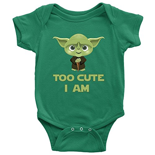 STAR WARS Cute Yoda Baby Bodysuit Romper Infant Onesie -