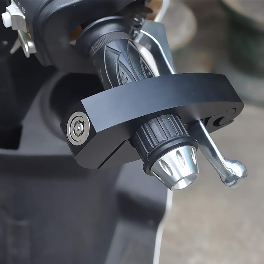 Argento Accessori di Protezione antifurto per Moto Blocco di Sicurezza antifurto Universale per Manubrio Powstro Blocco Freno per Moto Blocco Manubrio Portatile in Lega di Alluminio