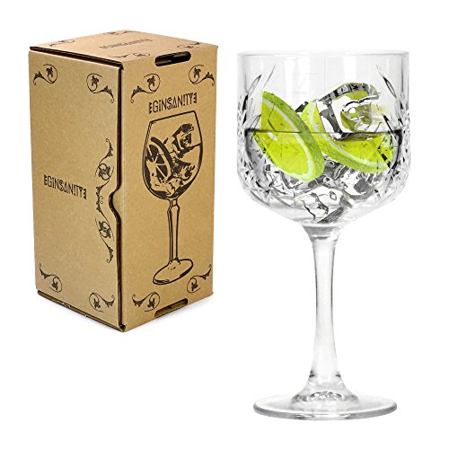 Ginsanity 20oz / 550ml Roaring 20's Vintage Gin & Tonic Balloon Copa Glass Cocktail
