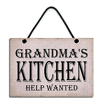 amazon uniquepig grandma s kitchen help wanted funギフト木製signs