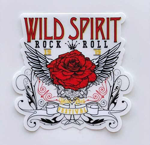 StyleMoca Rose Wing Wild Spirit Sticker Premium Quality Matte Waterproof Vinyl Stickers for Water Bottles, Tumblers, Cars, Snowboards, Laptops, and More