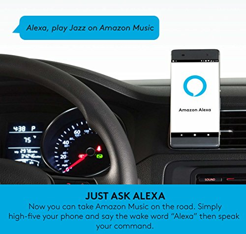 Logitech ZeroTouch with Amazon Alexa - Hands-free Car Mount and Voice Assistant App - exclusively for Android Phones - Dashboard Mount by Logitech (Image #2)