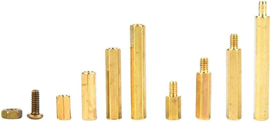 Male-Female Standoff M2 Standoff 320Pcs Standoff for Home Industry Female-Female Standoff Durable Brass Standoff