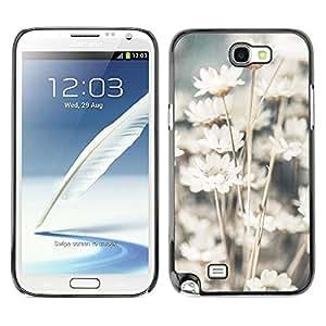 Be Good Phone Accessory // Dura Cáscara cubierta Protectora Caso Carcasa Funda de Protección para Samsung Note 2 N7100 // Sun White Flowers Floral Nature Field