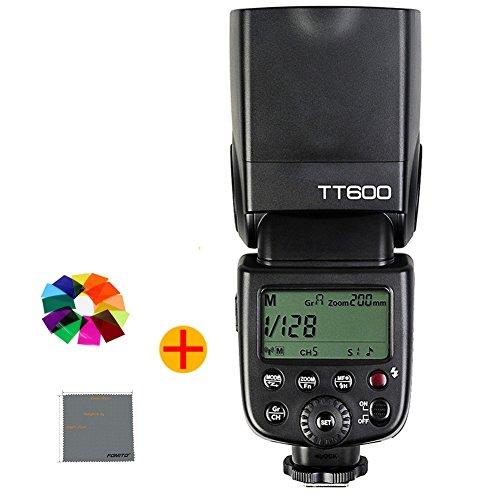 Fomito Godox TT600 カメラフラッシュ 内蔵2 4GワイヤレスXシステム ガイドナンバーGN60 1/8000s高速シンクロ AD360II-C・AD360II-N・TT685C・TT685N・X1T-C・X1T-N等とコンパチブルできる( Canon・Nikon・Pentax・Olympus DSLR カメラ対応)の商品画像