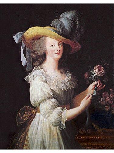 Marie Antoinette in a Muslin dress by Louise Elisabeth Vigee Le Brun