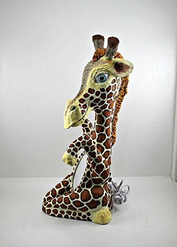 Giraffe night light nursery decor glow in the dark zoo animal nightlight lamp brown orange home decor girls room boys room baby shower gift by Whimsy Winks