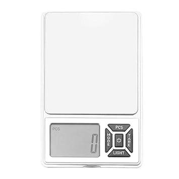 ZHANGYUGE Báscula de Cocina Digital Báscula Electrónica portátil Mini Hogar Cocina Horno medir Herramientas de Alta precisión Balanza de Peso,10g: ...