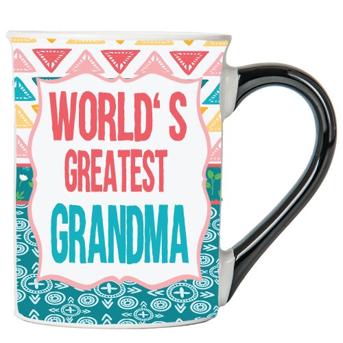 Cottage Creek Grandma Coffee Mug World's Greatest Grandma Large 18 Ounce Ceramic Grandma Mug/Grandma Gifts [White]