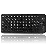 TNP Portable Handheld Bluetooth Mini Wireless Keyboard for Apple TV Remote Control Smartphone PC Laptop Tablet Projector (Black)