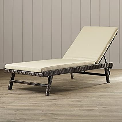 Lounge Chair / Chaise Lounge With Cushion Reclining Wicker/Rattan Calypso  SEHO1451   12.5u0026quot;