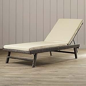 Amazon.com: Sillón/chaise longue con cojín reclinable de ...
