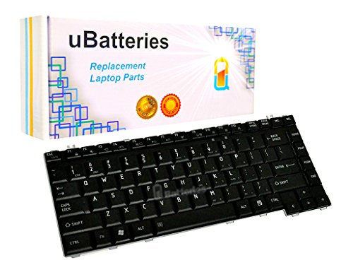 UBatteries Compatible Keyboard Replacement for Toshiba Satellite A200 A205 A210 A215 A300 A305 A305D L205 L300 L300D L305 L305D L510 L510 L515 M200 M205 M300 M305 M305D 6037B0026802 (Black) (Satellite Keyboard Toshiba A200)