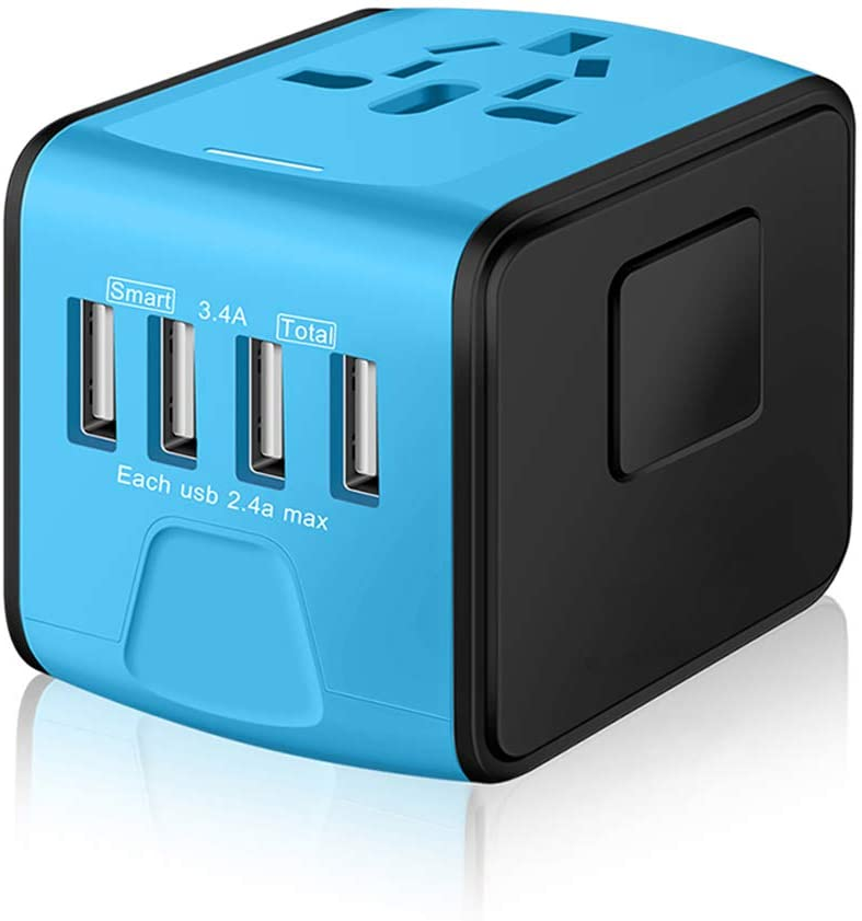 International Travel Adapter and Converters Universal Power Outlet Plug 2 USB Wall Charger Worldwide All in One AC Outlet Plugs for European US EU UK AU 160 Countries