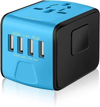 Amazon.com: SAUNORCH Adaptador de corriente universal ...