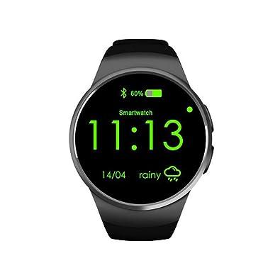 lightclub KW18 1.3inch Call Answer Pedometer Heart Rate Monitor Bluetooth Smart Watch - Black