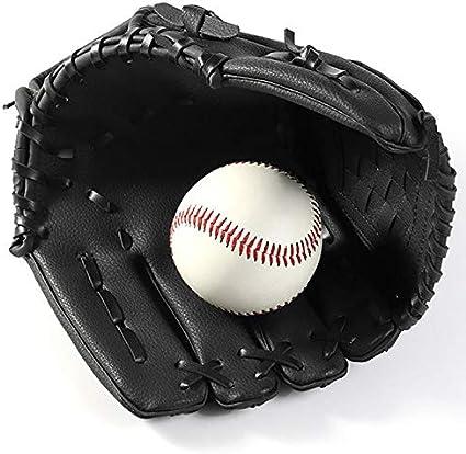 Katigan Auuen Sportarten Zwei Farben Baseball Handschuh Softball Trainings Gerrt Grrre 11,5//12,5 Linke Hand f/ür Erwachsene Mann Frau Baseball Handschuh Schwarz 12,5