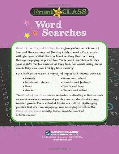 Word Searches, Grades K - 1 (Front of the Class)