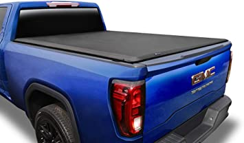 Amazon Com Tyger Auto T1 Soft Roll Up Truck Bed Tonneau Cover For 2004 2007 Chevy Silverado Gmc Sierra 1500 2007 Classic Only Fleetside 5 8 Bed Tg Bc1c9008 Black Automotive