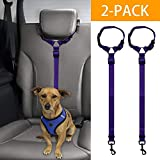 Mrli Pet Doggy Car Headrest Restraint - Animal Safety Seat Belt Strap - Adjustable Nylon Fabric Harness for Dog - Easy Vehicle Travel with Pet - Durable Zipline & Tether Backseat for Traveling