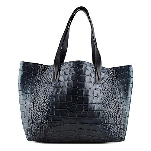 Vince Signature V Femmes Bleu Sac shopping