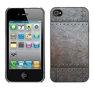 Print Motif Coque de protection Case Cover // V00002779 remaches metálicos // Apple iPhone 4 4S 4G