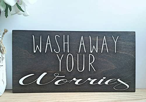 Amazon.com: Wash Away Your Worries Rustic Farmhouse