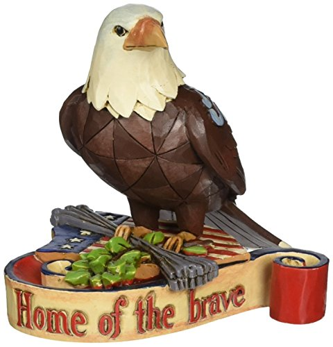 "Jim Shore Heartwood Creek Mini Patriotic Eagle Stone Resin Figurine, 3.75"" ()"