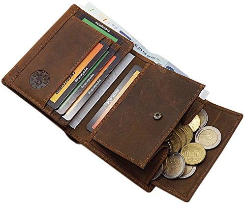 Sanglier Avec De Buffle Modéle Format Motif 1 monnaie Marron En Hauteur Hauteur modéle Ou Oblong Porte Cuir wf4XqRf