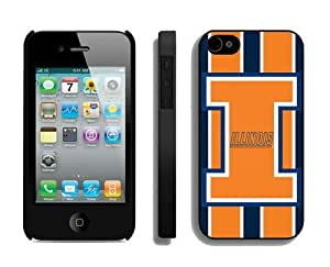 Best Iphone 4/4s Case Cover Ncaa Illinois Fighting Illini Unique Hit Color Stitching Cell Phone Protector for Guys by runtopwell