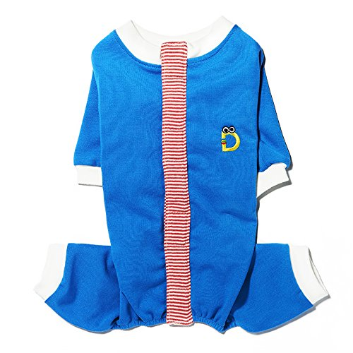 bluee 2XL bluee 2XL Solid colord Velcro Taped Jumpsuit (2XL, bluee)
