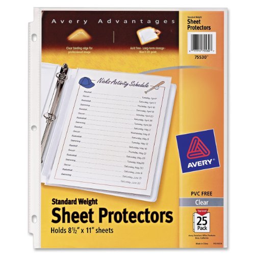 Avery Standard Weight Protectors 75530