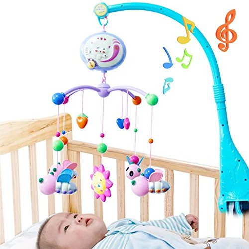 Cartoon Baby Lullaby Nursery Crib Cot Musical Mobile Animal