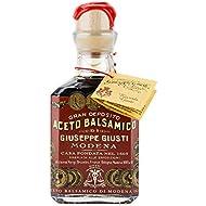 Giuseppe Giusti Gran Deposito Aceto Balsamico Di Modena Aged Artisan Italian Balsamic Wine Vinegar - 8.45 fl.oz. (250ml)