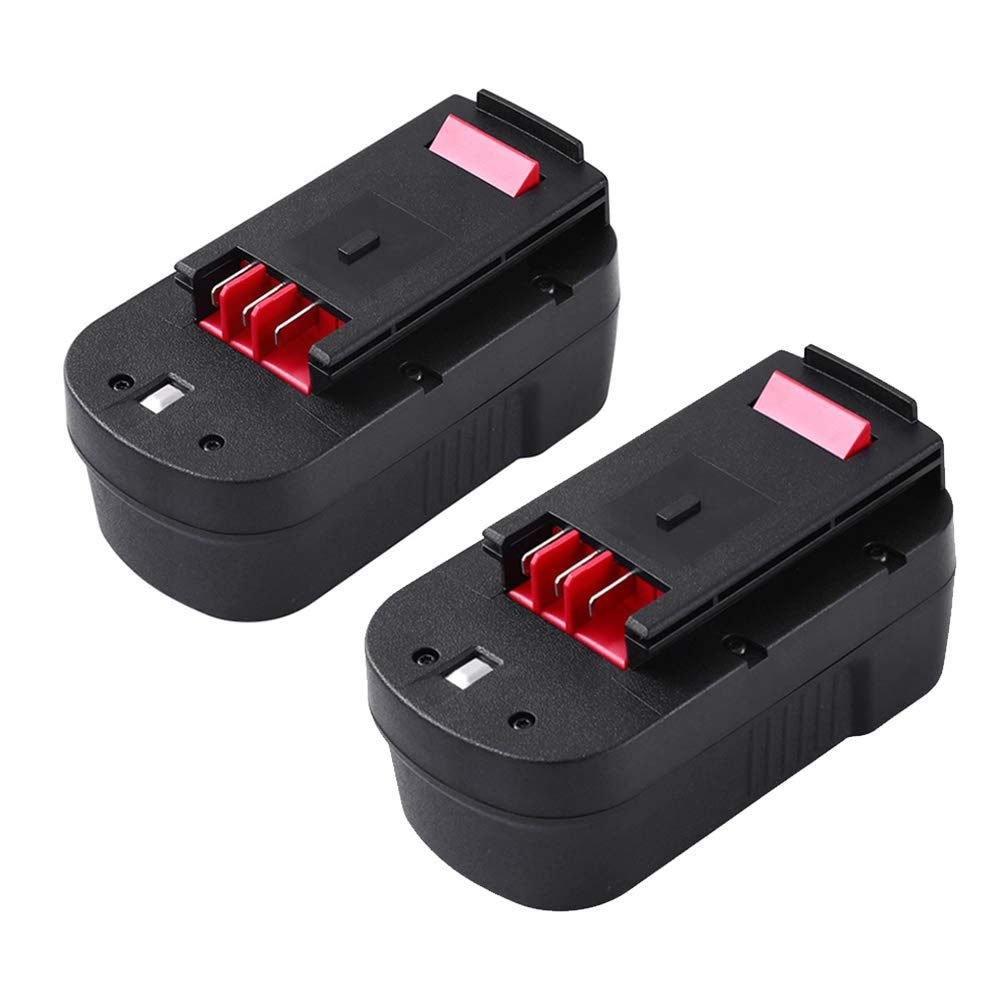 3600mAh Extended Capacity Battery for Black and Decker 18V Replacement Battery Pack HPB18 HPB18-OPE 244760-00 A1718 2-Pack