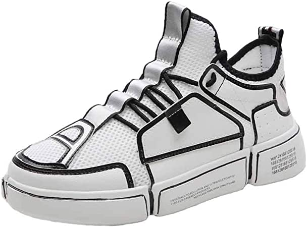FJJLOVE Zapatillas de Running para Hombre, Altas Zapatillas de Deporte Deportivas al Aire Libre Zapatillas Deportivas Ligeras y Transpirables para Correr,43: Amazon.es: Hogar