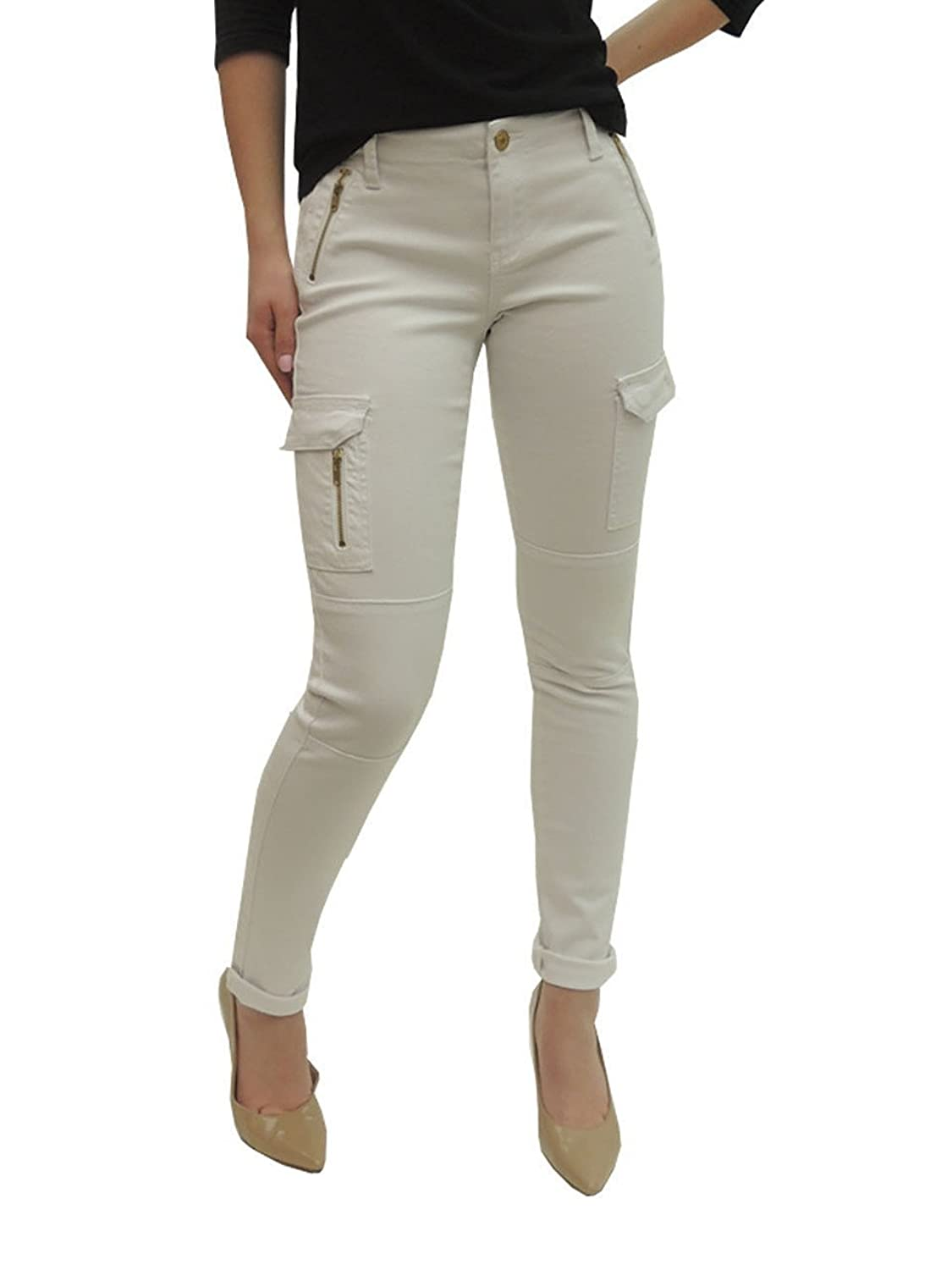 Goodfathers Womens Elite Jeans Skinny Cargo Pant With Zipper Jeans