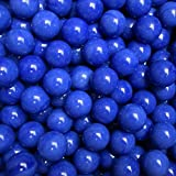 """Unique & Custom {9/16'' Inch} Approx 2 Pound Set of Approx 240 """"Round"""" Opaque Marbles Made of Glass for Filling Vases, Games & Decor w/ Royal Cobalt Tone Smooth Swirl Texture Design [Bright Blue Color]"""