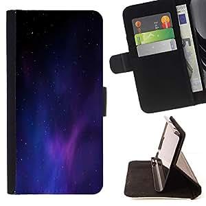 Momo Phone Case / Flip Funda de Cuero Case Cover - Universo púrpura azul claro Galaxy polvo - Huawei Ascend P8 (Not for P8 Lite)