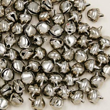 (SMALL-CHIPINC - 500pcs/lot 6x10mm Small Bell Craft Jewelry Wedding Charms Bead Rhodium Plated Color Sale CN-BSE000-70)