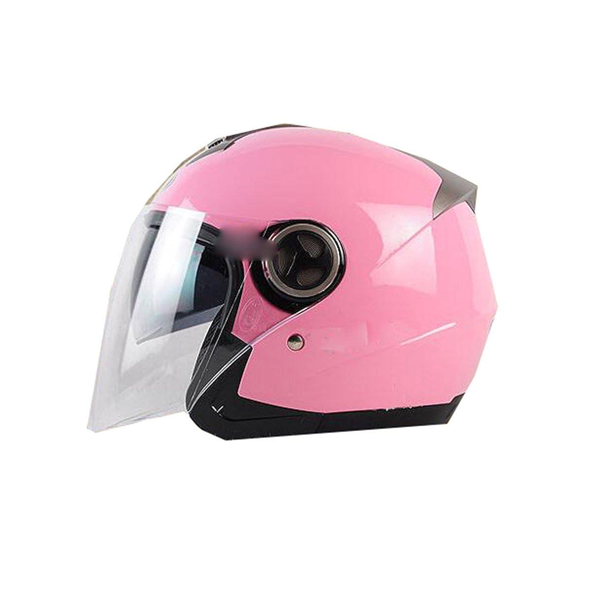 TZQ Winter Warm Lady Half-coveROT Riding Safe Helm Elektrische Auto Mann Motorrad Helm