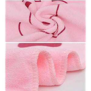 1 Pcs Dirt Super Absorbent Microfiber Pet Bath Towels For Cleaning Dogs and Cats Hypoallergenic Chemical-Free Cleaning And Grooming Animal Blanket Cloths (Pink)