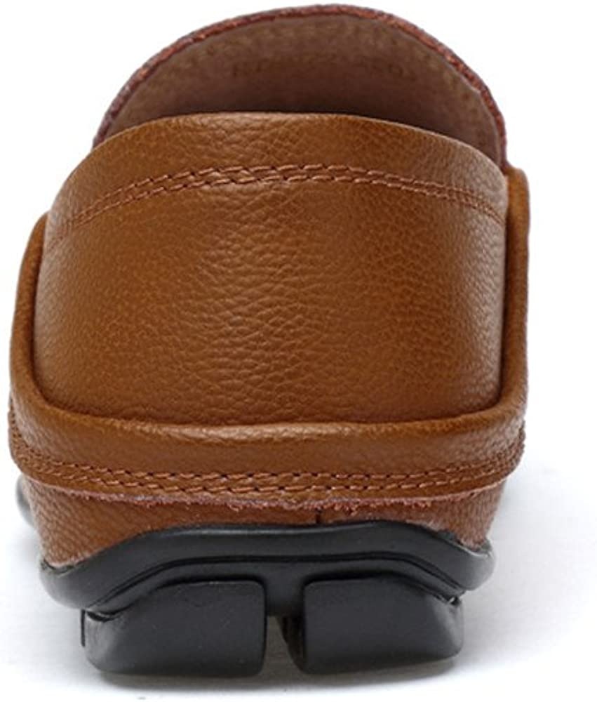 Mens Shoes Men Drive Loafers for Casual and Refreshing Breathable Genuine Leather Soft Bottom to Prevent Odor A Foot Pedal Lazy Person Boat Moccasins Fashion
