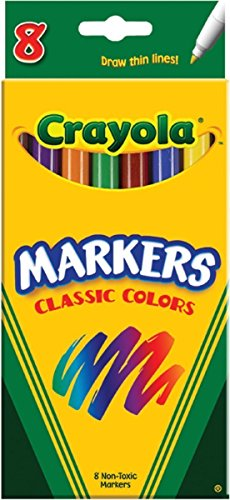 Crayola Thin Classic Fine Markers 8 Count ( Case of 24 )Total 192 by Crayola
